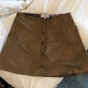 kendall and kylie suede skirt